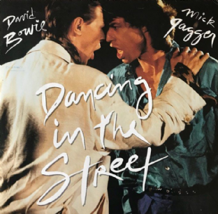 "David Bowie And Mick Jagger - Dancing In The Street (12"") (G-/G+)"